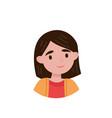 lovely girl avatar of cute little brunette girl vector image vector image