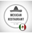 Mexican restaurant logo vector image vector image