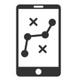 mobile navigation route flat icon vector image vector image