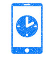 mobile time grunge icon vector image vector image
