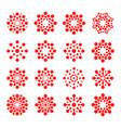 modern logos circles round logo vector image vector image
