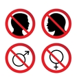 No Man and Woman Sign vector image vector image