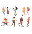 people summer outdoors activities walking vector image vector image