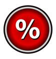 Percent icon internet button on white background vector image