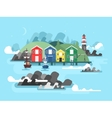 Port sea or ocean harbour vector image vector image