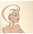 Portrait of woman nude color03 vector image