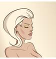 Portrait of woman nude color03 vector image vector image