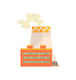 power station industrial building vector image