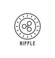 ripple thin line icon vector image vector image
