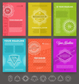 set abstract template flyer page design vector image vector image