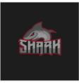 shark mascot for sport team logo design vector image vector image