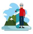 snowboard athlete extreme scene vector image