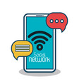 social network concept connection bubble speak vector image