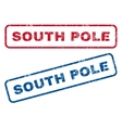 South Pole Rubber Stamps vector image vector image