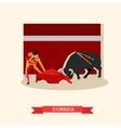 Spain Corrida concept Bull vector image vector image