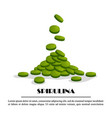 spirulina falling tablets algae nutritional vector image vector image