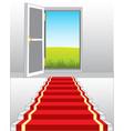 stairway and door in nature vector image vector image