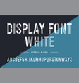 stencil line font colorful condensed alphabet and vector image vector image