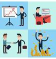 Successful Businessman Career Set vector image