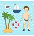 Summer sea set vector image