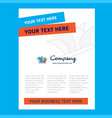 sydney title page design for company profile vector image vector image