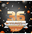 Thirty six years anniversary celebration vector image vector image