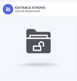 unlock icon filled flat sign solid vector image vector image