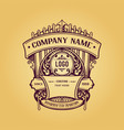vintage label badge premium retro logo design vector image