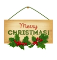 Merry Christmas Christmas wooden vector image