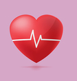Red Heart Beat Graph Hospital vector image