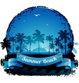 Beautiful blue tropical summer vacation background vector image