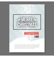 Merry Christmas Invitation Card design template vector image