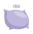 pillow on white background vector image