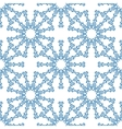 Snowflakes seamless pattern for winter design vector image