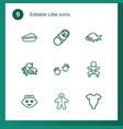 9 little icons vector image vector image