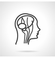 Anatomy brain black line icon vector image