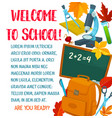 back to school autumn education poster vector image vector image