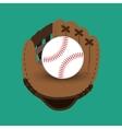 baseball club glove and ball design vector image vector image
