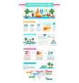 beach resort - modern flat design style template vector image vector image