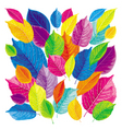 bright leaves background vector image vector image