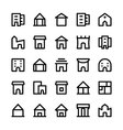 Building Icons 5 vector image vector image