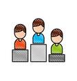 business people in podium success progress vector image vector image