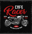 cafe racer motorcycle label vector image