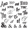 Calligraphic Ands and Thes