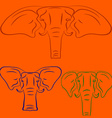 Cartoon elephants vector image