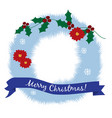 christmas greeting card christmas wreath in a vector image