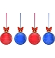 Christmas multicolor balls on white background vector image