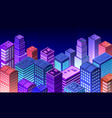 cityscape 3d ultraviolet vector image vector image