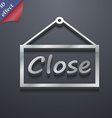 close icon symbol 3D style Trendy modern design vector image