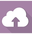 Cloud upload application web icon vector image vector image